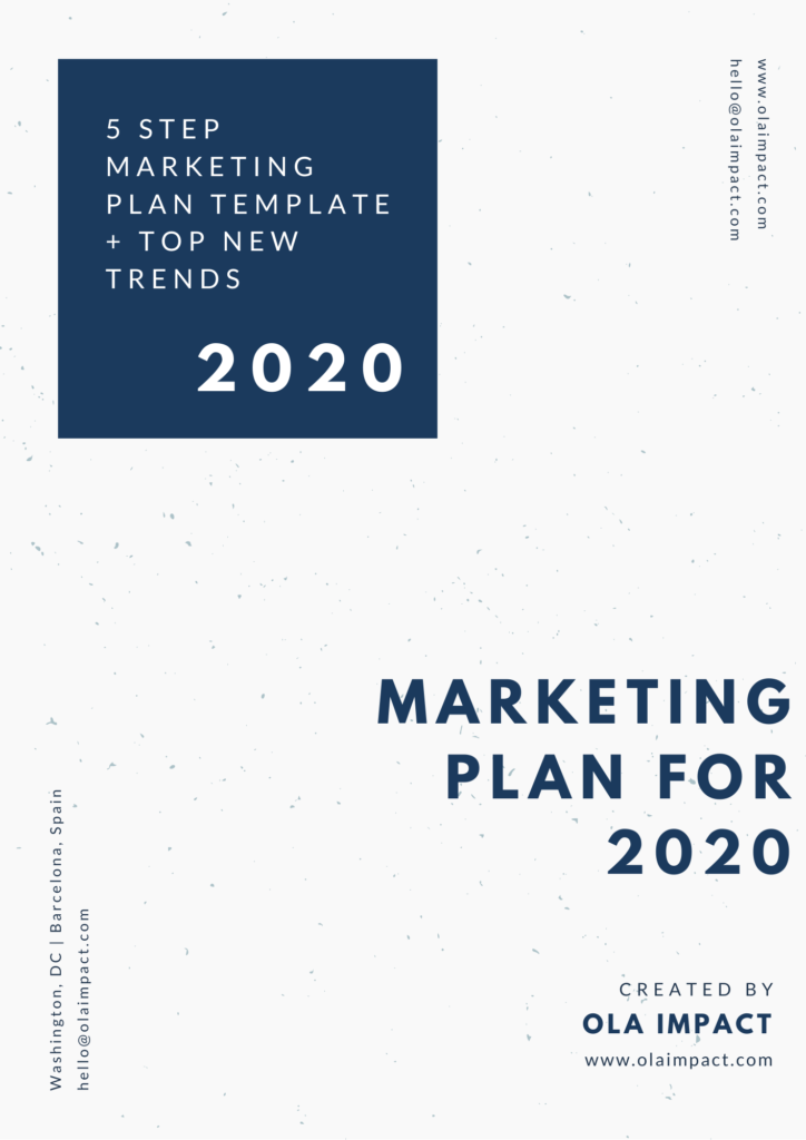 Marketing Plan 2020 Trends and Template
